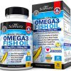 Omega 3 Fish Oil Supplement with 1200mg EPA, 900mg DHA & Fatty Acid Combination – Healthy Blood Pressure, Immune, Heart Support – Promotes Joint, Eyes, Brain & Skin Health – Non GMO Softgels
