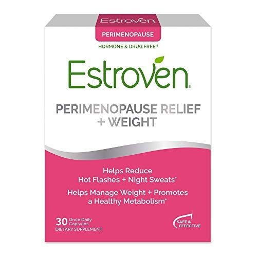 Estroven Weight Management | Menopause Relief Dietary Supplement | Safe Multi-Symptom Relief | Helps Reduce Hot Flashes & Night Sweats* | Helps Manage Weight* | Drug Free & Estrogen Free* | 30 Caplets