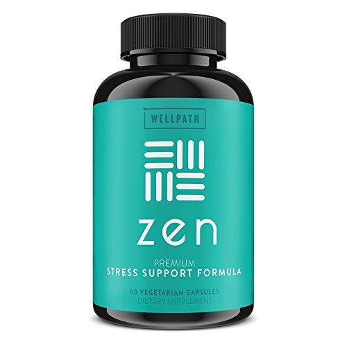 Zen Anxiety and Stress Relief Supplement – Natural Herbal Formula Supporting Calm, Positive Mood with Ashwagandha, L-Theanine, Rhodiola Rosea – 60 Vegetarian Capsules