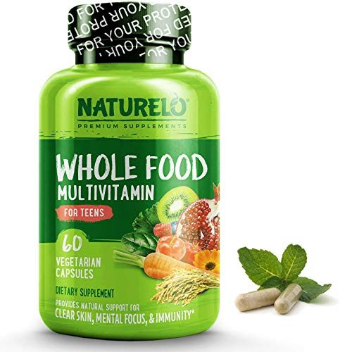 NATURELO Whole Food Multivitamin for Teens – Natural Vitamins & Minerals for Teenage Boys & Girls – Best Supplement for Active Kids – with Plant Extracts – Non-GMO – Vegan & Vegetarian – 60 Capsules