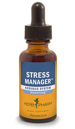Herb Pharm Stress Manager Herbal Formula with Rhodiola and Holy Basil Extracts