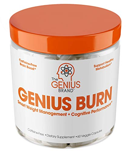 Genius Fat Burner – Thermogenic Weight Loss & Nootropic Focus Supplement – Natural Metabolism & Energy Booster for Men & Women | Thyroid Support and Appetite Suppressant w/ Gymnema Sylvestre, 60 Pills