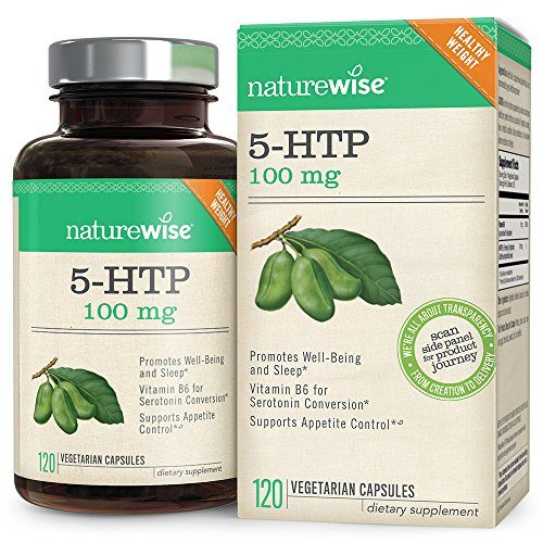 NatureWise 5-HTP 100mg | Natural Mood & Sleep Support | Curbs Appetite to Support Weight Loss | Enhanced with Vitamin B6 | Non-GMO, Gluten Free, Vegetarian (Packaging May Vary) [2 Month – 120 Count]