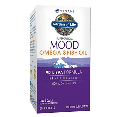 Garden of Life EPA Omega 3 Fish Oil – Minami Natural Mood and Brain Function Supplement, 60 Softgels