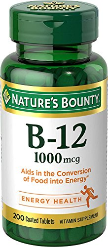 Nature's Bounty Vitamin B-12, 1000 mcg – Vitamin Supplement