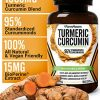 Turmeric Curcumin with BioPerine Black Pepper and 95% Curcuminoids, 1965mg, Maximum Absorption for Joint Support & Healthy Inflammatory Response, Non-GMO Turmeric Capsules, Made in USA – 90 Veg Caps