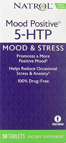Natrol 5-HTP Mood Positive Tablets, 50 Count