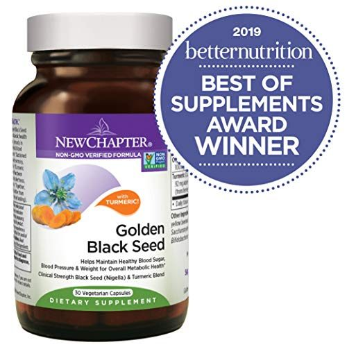 New Chapter Black Seed Oil – Golden Black Seed + Turmeric for Healthy Mood + Healthy Blood Sugar + Healthy Weight